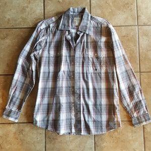 Roper Button Up Long Sleeve Shirt. Size Medium.
